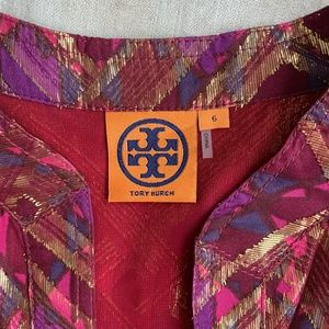 Tory Burch Tops - Tory Burch Metallic Stephanie Silk Tunic